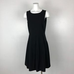 Calvin Klein | Black Fit and Flare Pleaded Dress